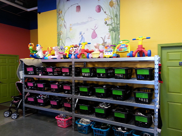photo of toy rack