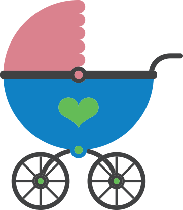 cartoon image of stroller